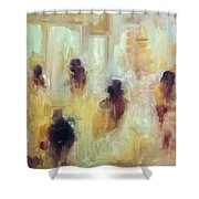 Impression Of Cotton Market Shower Curtain