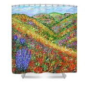 Impressionism- Flowers- Dreaming Of Spring Shower Curtain