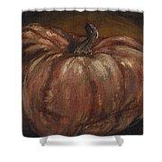 Impressionist Autumn Pumpkin Shower Curtain