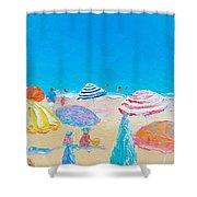 Impressionist Beach Painting Shower Curtain