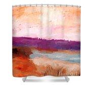 Impressionist Beach Scene Shower Curtain