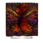 Impressionist Butterfly Shower Curtain