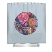 Impressionist Floral Art Shower Curtain