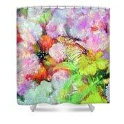 Impressionist Floral Xxxi Shower Curtain