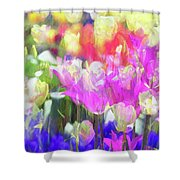 Impressionist Floral Xxxv Shower Curtain