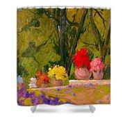 Impressionist Garden  Shower Curtain