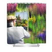 Impressionist Painter Shower Curtain