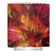 Impressionist Vibrant Daylily 1208 Idp_2 Shower Curtain