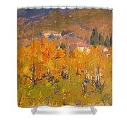 Impressionist Vineyard - Tuscany Shower Curtain