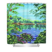 Impressionistic Landscape Xx Shower Curtain