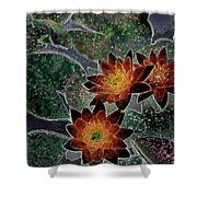 Impressionistic Lilies Shower Curtain