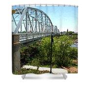Impressionistic Llano Bridge Shower Curtain