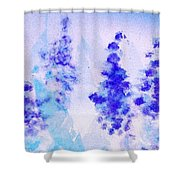 Impressionistic Lupines 1 Shower Curtain