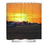 Impressionistic Sunset Shower Curtain