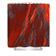 Impressions Of A Burning Forest 6 Shower Curtain