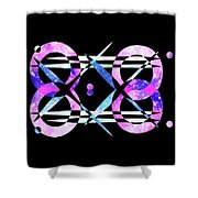 I Took A Retrofuturistic Journey In Space In 1920 Shower Curtain by Bee-Bee Deigner