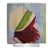 In A Breeze Shower Curtain