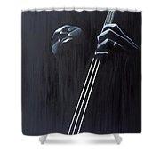 In A Groove Shower Curtain by Kaaria Mucherera