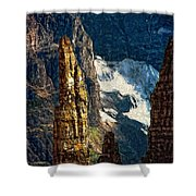 In A High Place Impasto Shower Curtain