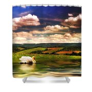 In A Land Far Away Shower Curtain