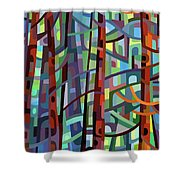 In A Pine Forest - Crop Shower Curtain