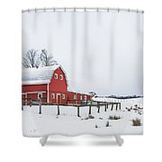 In A Rural Atmosphere Shower Curtain