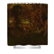 In A Wooded Glen Shower Curtain