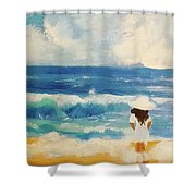 In Awe Of The Ocean Shower Curtain