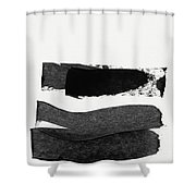 In Between Stage- Abstract Art By Linda Woods Shower Curtain