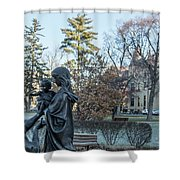 In Celebration Of Family Notre Dame 2 Shower Curtain
