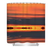In Color Two Shower Curtain
