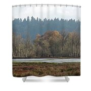 In Company Of Alders Shower Curtain