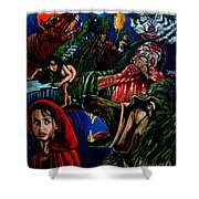 The Company Of Wolves Shower Curtain