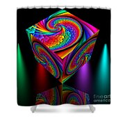 In Different Colors Thrown -4- Shower Curtain by Issabild -