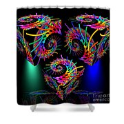 In Different Colors Thrown -9- Shower Curtain by Issabild -