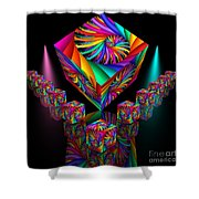 In Different Colours Thrown -6- Shower Curtain