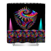 In Different Colours Thrown -7- Shower Curtain