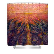 In Far Road Shower Curtain