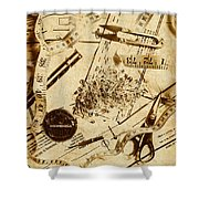 In Fashion Of Vintage Sewing Shower Curtain