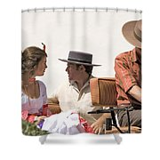 In Flamenco Dress For The Bullfight Shower Curtain