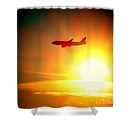 In Flight Shower Curtain