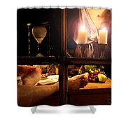In For The Night Shower Curtain