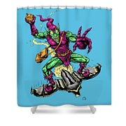 In Green Pursuit Shower Curtain