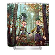 In Harmony With Nature Shower Curtain