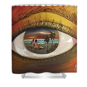 In His Eyes  Shower Curtain