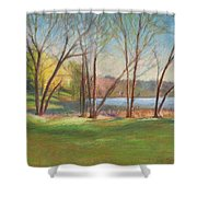 In Just Spring At Plug Shower Curtain