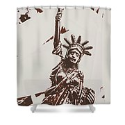 In Liberty Of New York Shower Curtain