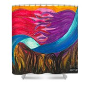 In Love We Are Bound Shower Curtain