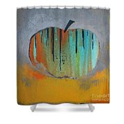 In Love With Apple Shower Curtain