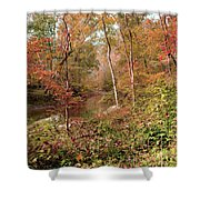 In Love With Autumn Shower Curtain